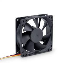 Ventilatore 80mm 3-pin nero AW-8B-BK